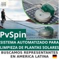 PVSPIN, SISTEMA MECANIZADO ALEMÁN PARA LIMPIEZA DE PLANTAS FOTOVOLTAICAS