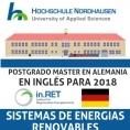 POSTGRADO MASTER EN ENERGIAS RENOVABLES EN ALEMANIA, EN INGLÉS!